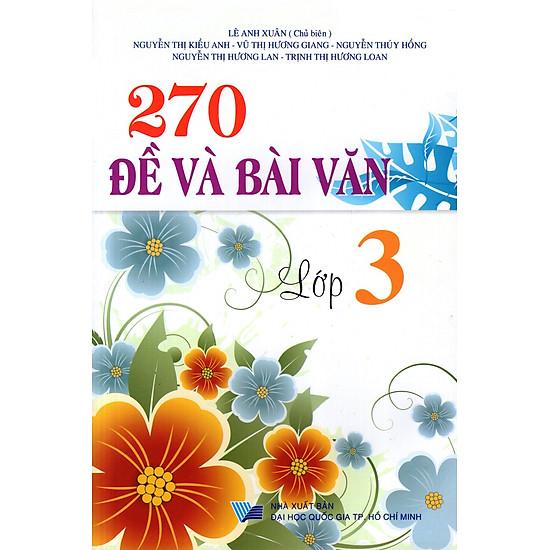 [Download sách] 270 Đề Và Bài Văn Lớp 3