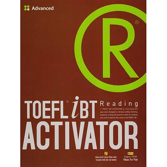 TOEFL iBT Activator Reading (Tập 3) - Advanced