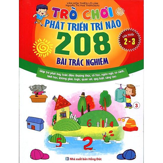 Trò Chơi Phát Triển Trí Não (208 Bài Trắc Nghiệm – Dành Cho Trẻ Từ 2 – 3 Tuổi)