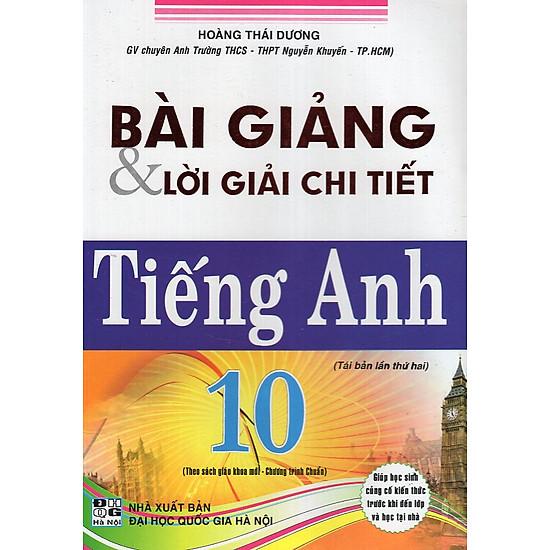 [Download Sách] Bài Giảng & Lời Giải Chi Tiết Tiếng Anh 10