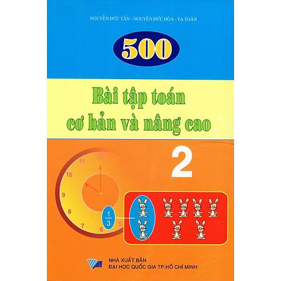 500 Bài Tập Toán Cơ Bản Và Nâng Cao Lớp 2