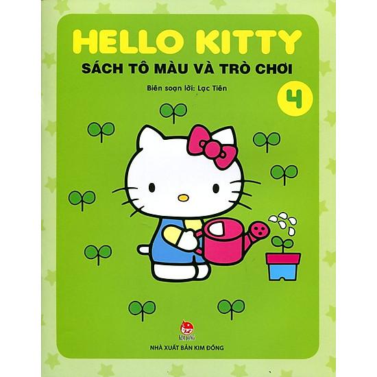 [Download Sách] Hello Kitty - Sách Tô Màu Và Trò Chơi (Tập 4)