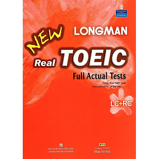 Longman New Real TOEIC Full Actual Tests (Kèm CD)