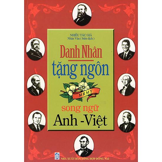 [Download Sách] Danh Nhân Tặng Ngôn (Song Ngữ Anh - Việt)