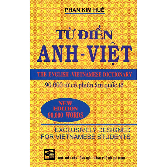 Từ Điển Anh – Việt (90.000 Từ) – Sách Bỏ Túi