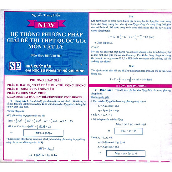 Bảng Hệ Thống Phương Pháp Giải Đề Thi THPT Quốc Gia Môn Vật Lý (2)