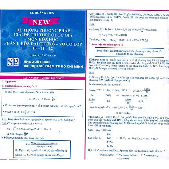 Hệ Thống Phương Pháp Giải Đề Thi THPT Quốc Gia Môn Hóa Học Phần I: Hóa Vô Cơ Lớp 10 – 11 – 12