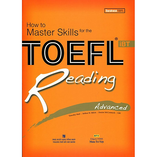 How To Master Skills For The TOEFL iBT Reading Advanced (Không CD)  – Tái Bản
