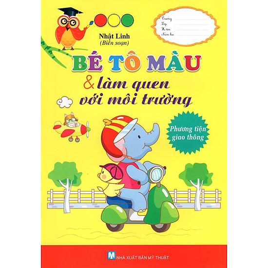 [Download Sách] Bé Tô Màu & Làm Quen Với Môi Trường - Phương Tiện Giao Thông
