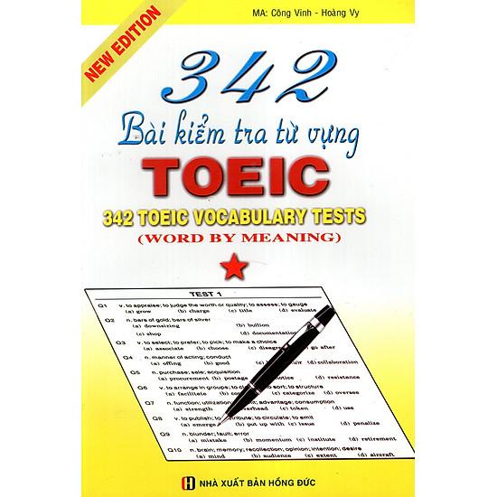 342 Bài Kiểm Tra Từ Vựng TOEIC (Tập 1)