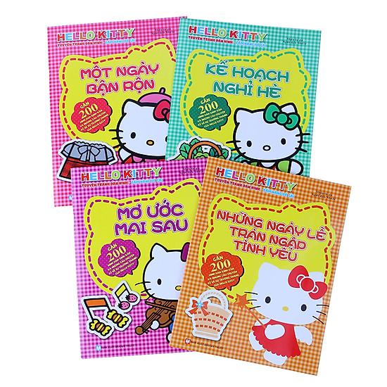 [Download Sách] Truyện Tranh Dán Hình Hello Kitty (Bộ 4 Quyển)