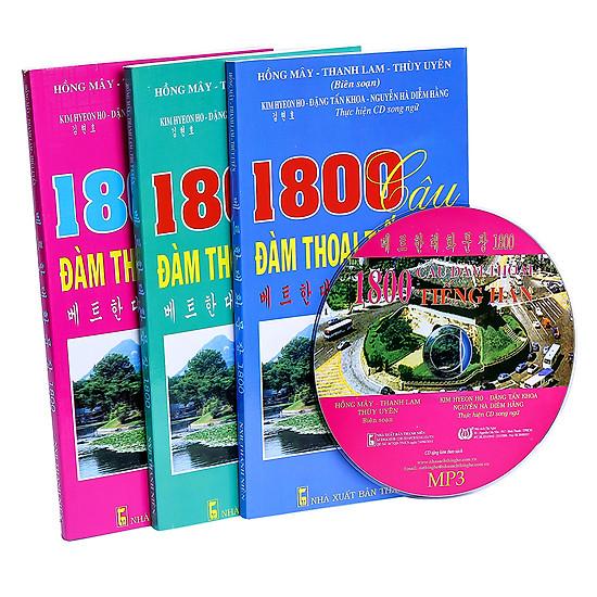 Combo: 1800 Câu Đàm Thoại Tiếng Hàn (Trọn Bộ 3 Cuốn) (Kèm CD)