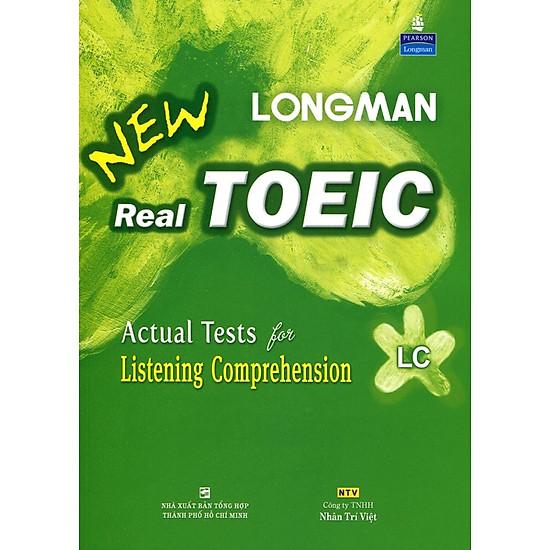 Kết quả hình ảnh cho Longman New Real Toeic - Actual Tests For Listening Comprehension LC