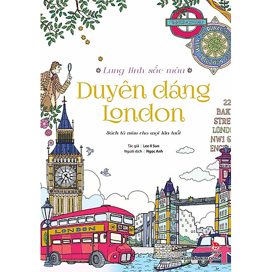 [Download Sách] Lung Linh Sắc Màu - Duyên Dáng London (Sách Tô Màu)