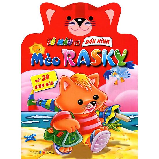 [Download sách] Tô Màu Và Dán Hình: Mèo Rasky