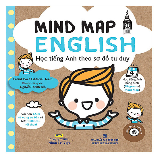 [Download Sách] Mind Map English - Học Tiếng Anh Theo Sơ Đồ Tư Duy (Kèm CD)