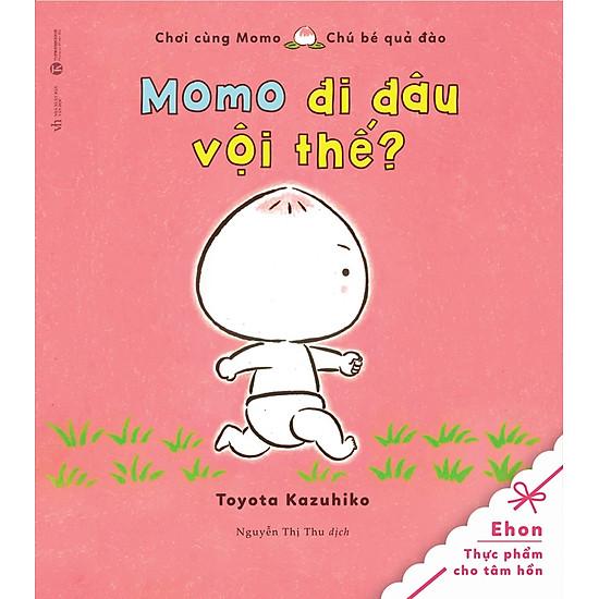 Tủ Sách Ehon: Chơi Cùng Momo – Chú Bé Quả Đào: Momo Đi Đâu Vội Thế?