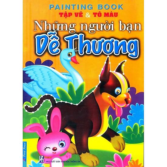 [Download Sách] Tập Vẽ Và Tô Màu - Những Người Bạn Dễ Thương