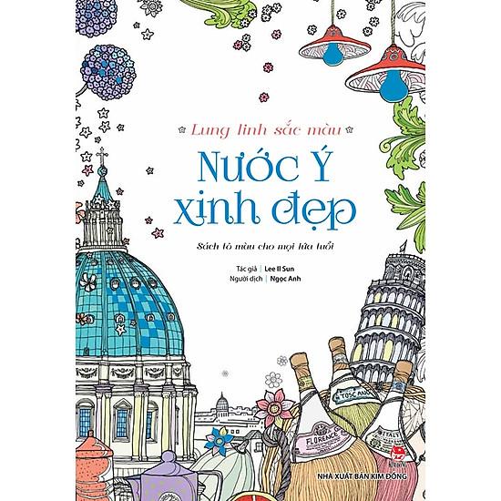 [Download Sách] Lung Linh Sắc Màu - Nước Ý Xinh Đẹp (Sách Tô Màu)
