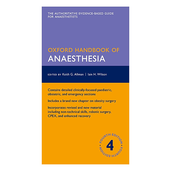 Oxford Handbook Of Anaesthesia (Fourth Edition)