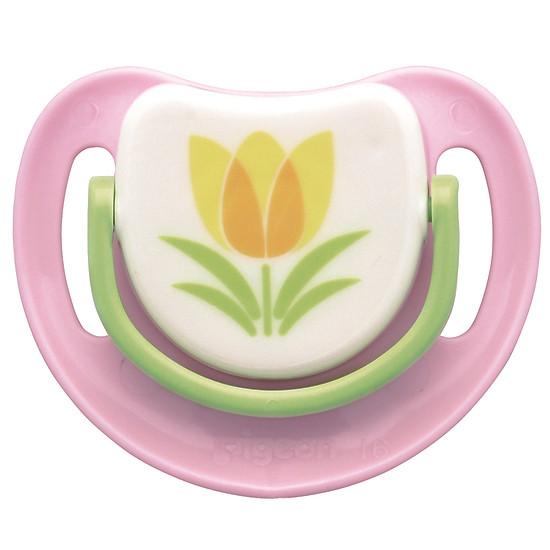 Ty Ngậm Silicone Bước 3 Pigeon - Hình Hoa Tulip