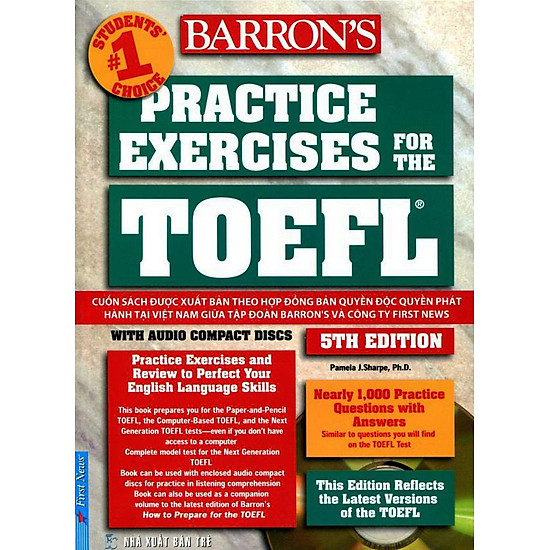 Practice Exercises For The TOEFL iBT (5th Edition) - Không Kèm CD