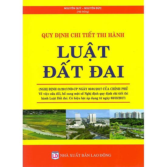 [Download Sách] Quy Định Chi Tiết Thi Hành Luật Đất Đai