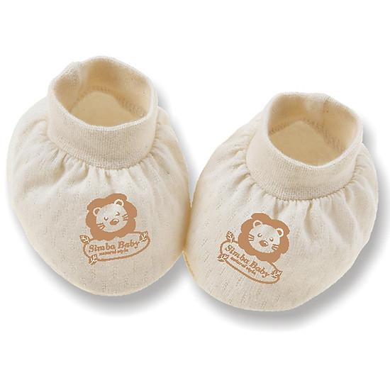 Bao Chân Bé Sơ Sinh Vải Bông Hữu Cơ Simba Organic S5020