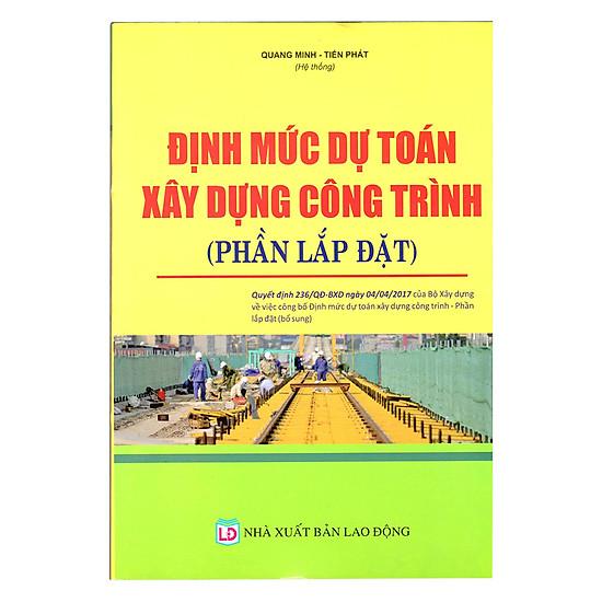 [Download Sách] Định Mức Dự Toán Công Trình (Phần Lắp Đặt)