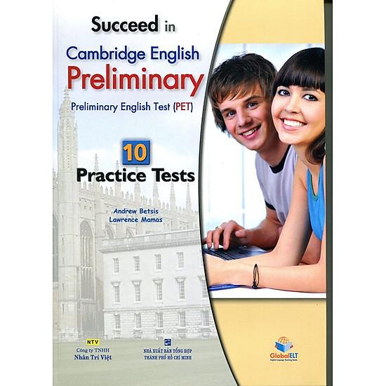 [Download sách] Succeed in PET - 10 Practice Tests (Gồm 1 Đĩa MP3)