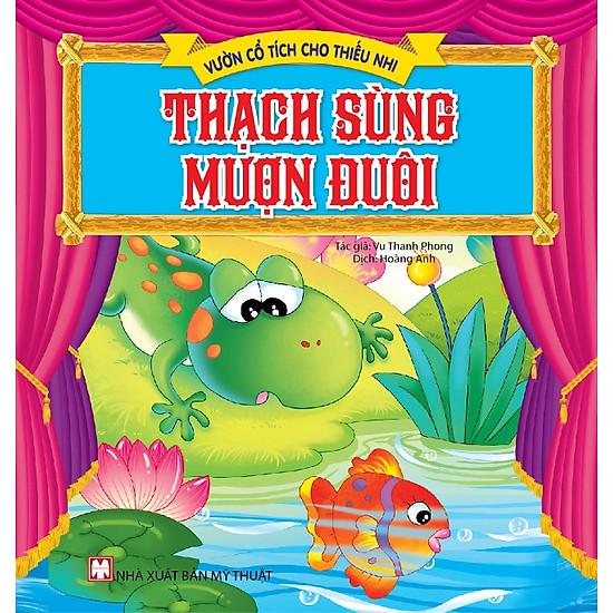 Hình ảnh download sách Vườn Cổ Tích Cho Thiếu Nhi - Thạch Sùng Mượn Đuôi