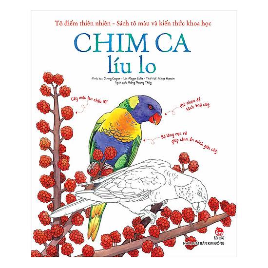 [Download Sách] Tô Điểm Thiên Nhiên - Sách Tô Màu Và Kiến Thức Khoa Học - Chim Ca Líu Lo