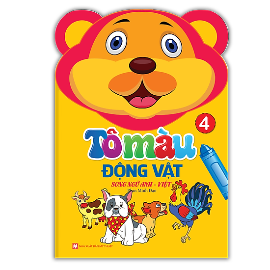 Tô Màu Động Vật – Song Ngữ Anh – Việt (Tập 4)