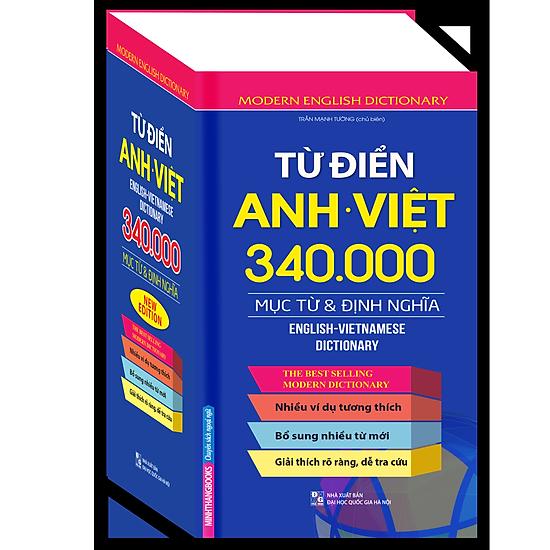 [Download Sách] Từ Điển Anh Việt 340.000 Mục Từ Và Định Nghĩa (Bìa Cứng)