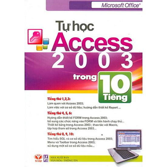[Download sách] Tự Học Access 2003 Trong 10 Tiếng