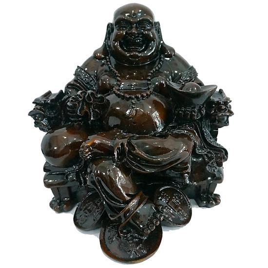 Tượng Phật Di Lặc Ngồi Ghế Màu Giả Gỗ Cỡ Đại Vạn Thiên Xuân NB07