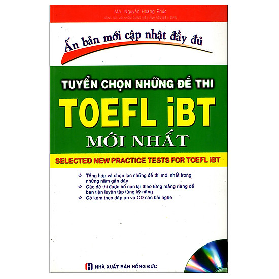 [Download sách] Tuyển Chọn Những Đề Thi TOEFL iBT Mới Nhất
