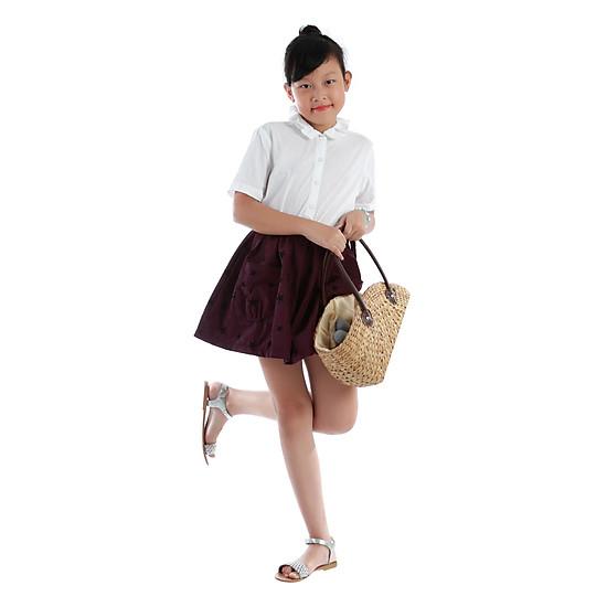 Váy Nhung Phối Túi Bé Gái Teps VN004 Họa Tiết Ngôi Sao – Tím ...