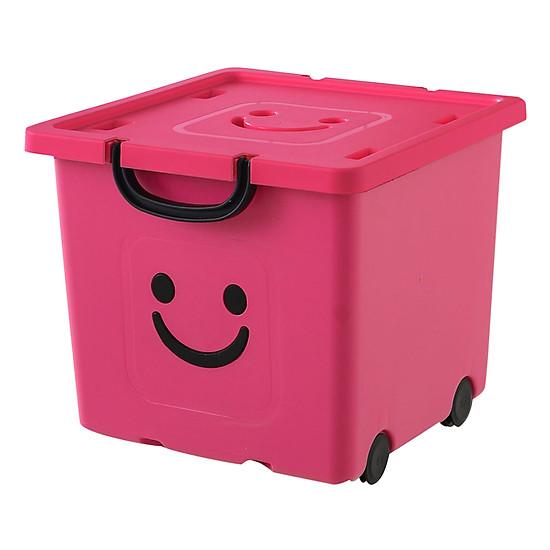 Thùng Nhựa Happy Box Yuwon PS YW-02 - Hồng Đậm (Size Vừa)