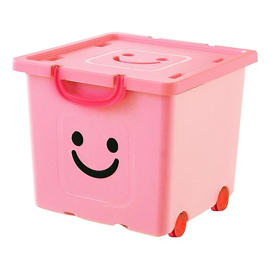 Thùng Nhựa Happy Box Yuwon PS YW-06 - Hồng Nhạt (Size Vừa)