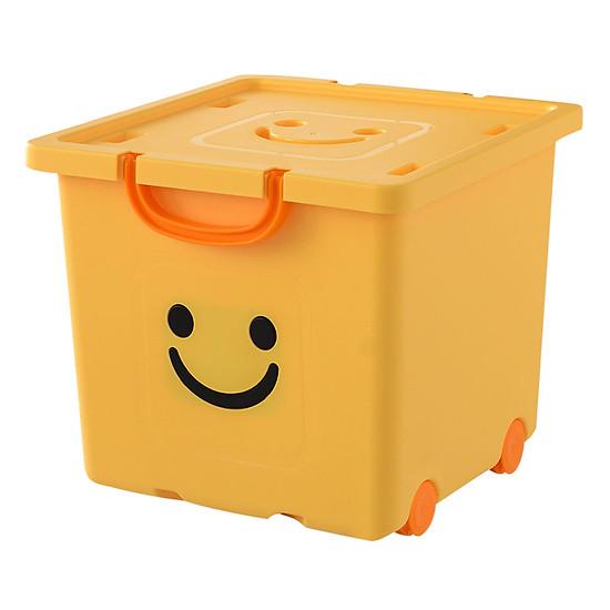 Thùng Nhựa Happy Box Yuwon PS YW-07 - Vàng Nhạt (Size Vừa)