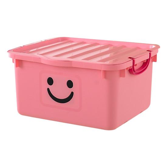 Thùng Nhựa Happy Box Yuwon PS YW-14 - Hồng Nhạt (Size Lớn)