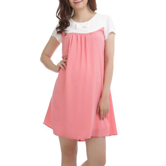 Váy Bầu Tay Cọc Đi Làm Annanina 506500SPK - Hồng
