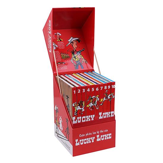 [Download Sách] Boxset Cuộc Phiêu Lưu Kỳ Thú Của Lucky Luke (Bộ 10 Tập) - Độc Quyền Tại Tiki