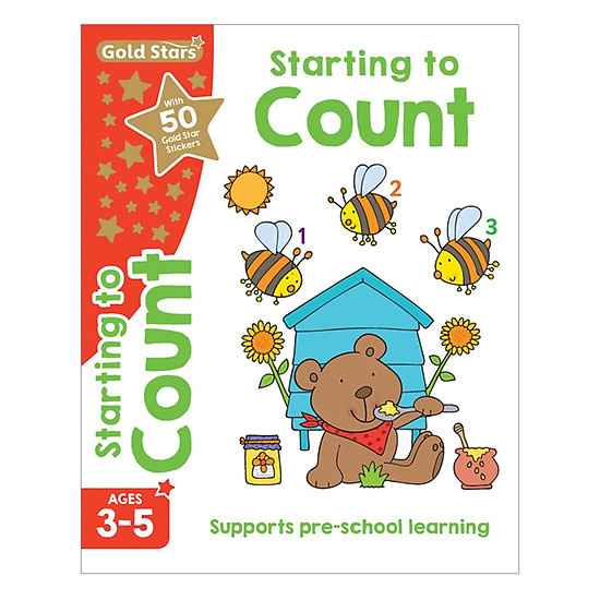 Gold Stars - Starting To Count Ages 3-5