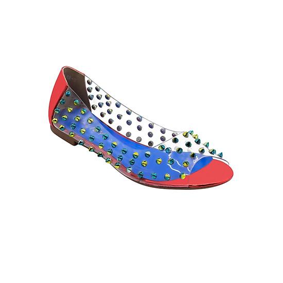 Giày Búp Bê Quai Trong Gắn Đinh Sulily B04-IV17 - Đỏ