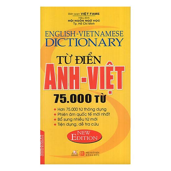 [Download sách] Từ Điển Anh - Việt 75.000 Từ (Văn Lang)