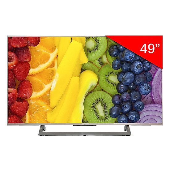 Android Tivi Sony 49 inch 4K KD-49X8000E – Bạc