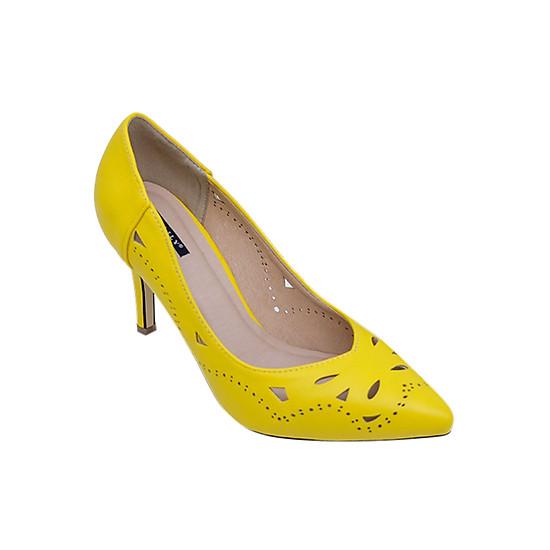 Giày Cao Gót Cắt Laze Sulily G02-IV17 - Vàng
