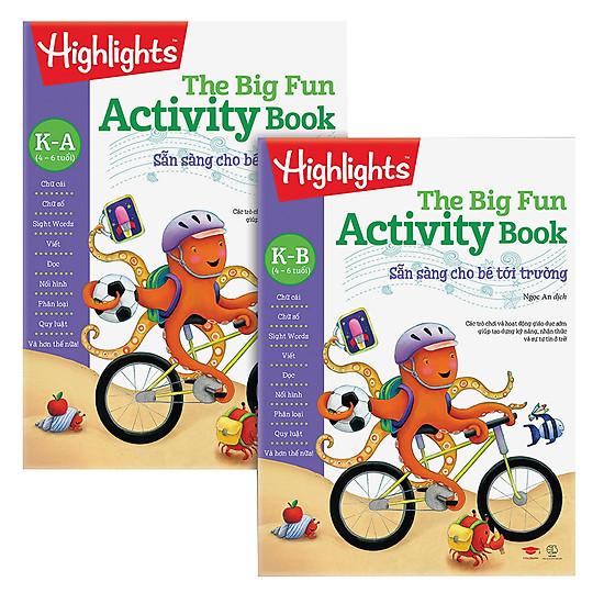 Combo Big Fun Activity Book - Sẵn Sàng Cho Bé Tới Trường K (4-6 Tuổi)